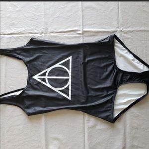 BlackMilk Deathly Hallows Swimsuit/Bodysuit